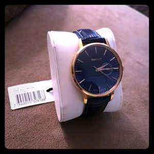 New Ladies Gant Watch - blue and rose gold